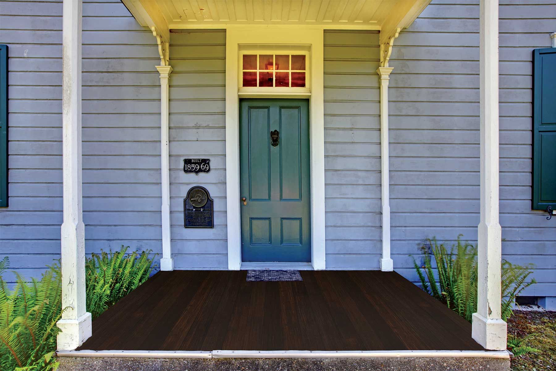 Classic Espresso 1x4 Porch Flooring T G Fused Bamboo Also For Interior Floors House Entrance Grey Houses Porch Flooring