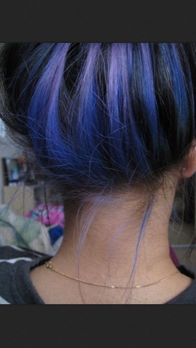 Underlayer This Would Be Sooo Cool For Summer Hair Styles Black Hair Tips Hair Streaks