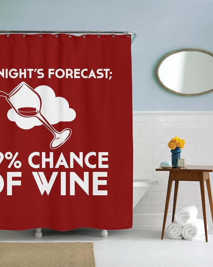 99 Chance Of Wine Shower Curtain Crazydog T Shirts Curtains