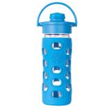 Glas-Trinkflasche 320ml mit Fliptop Cap
