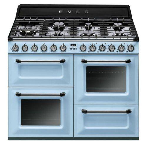Smeg Retro Herd & Ofen in blau, Erdgas, Gas, Grill | küche ...