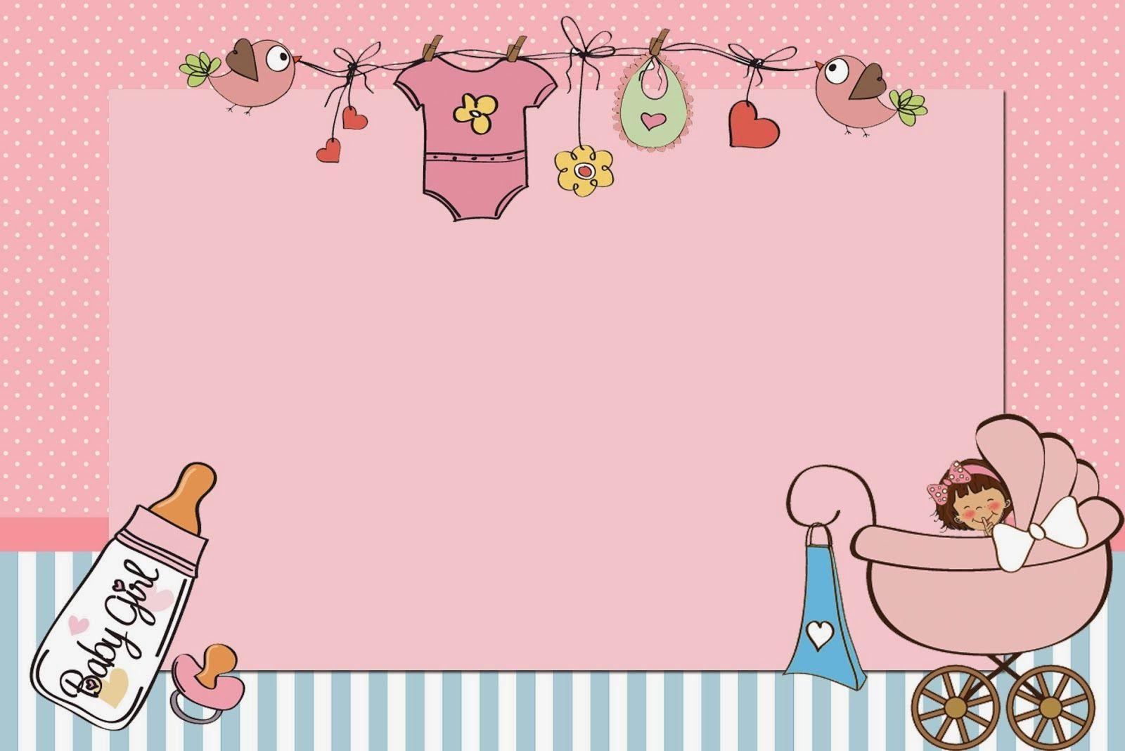 Baby Girl Free Printable Invitations Invitaciones De Baby