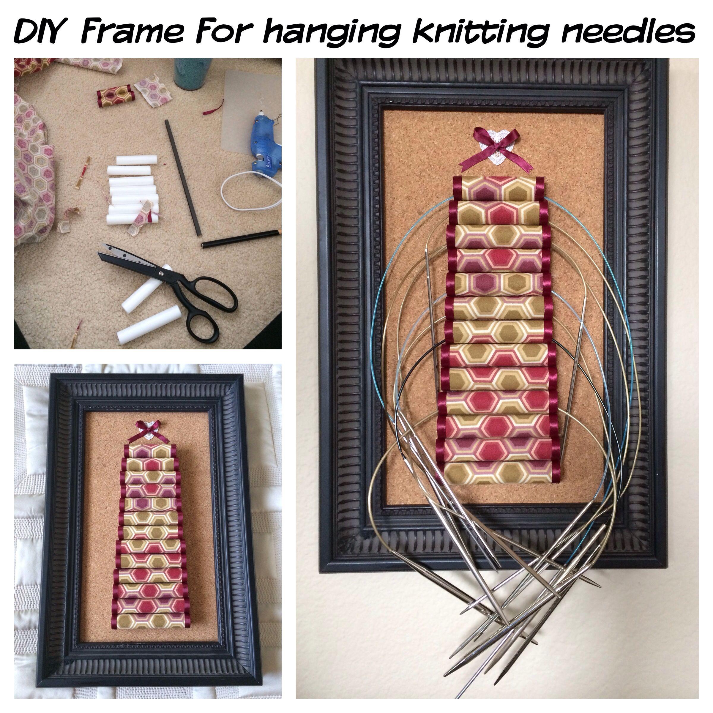 Diy Frame For Hanging Knitting Needles