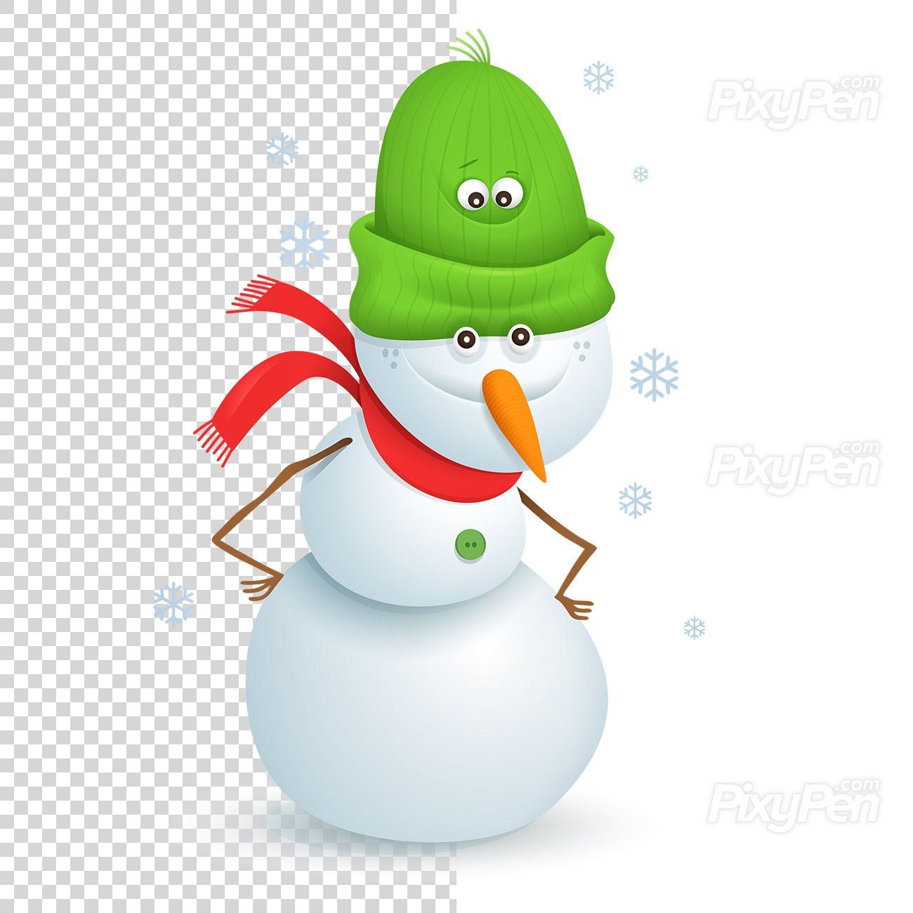 Snowman Clipart On Transparent Background Vector Illustration Pixypen Snowman Clipart Happy New Year 2020 Vector Illustration
