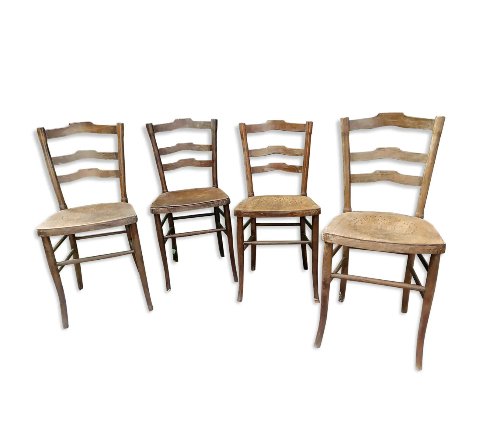 Lot De 4 Chaises De Bistrot Cambier En 2020 Chaise Bistrot Chaise 4 Chaises