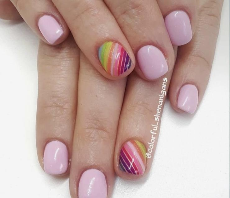 20 Rainbow Nail Art Designs For Colorful Souls