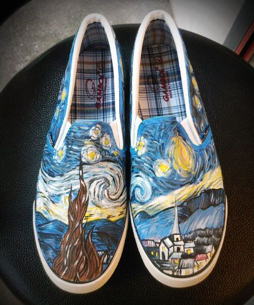 Wonderfully Geeky Hand-Painted Shoes