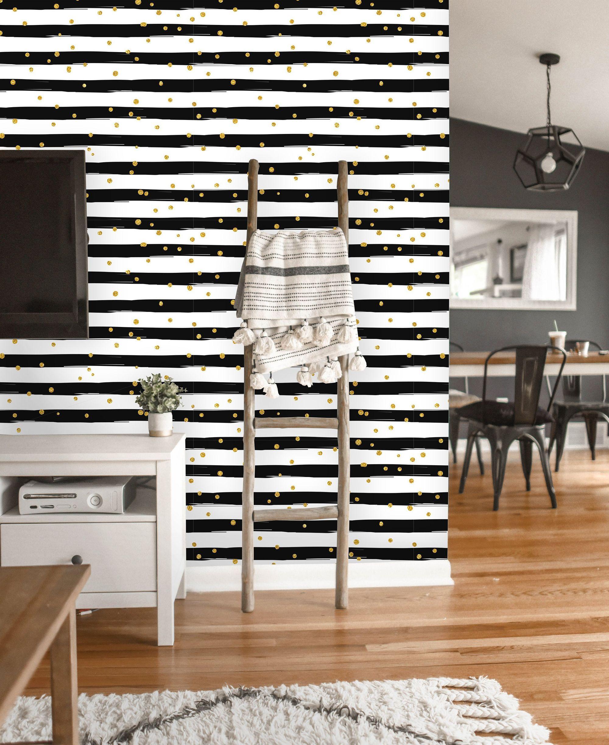 Removable Wallpaper Peel and Stick Stripe Wallpaper