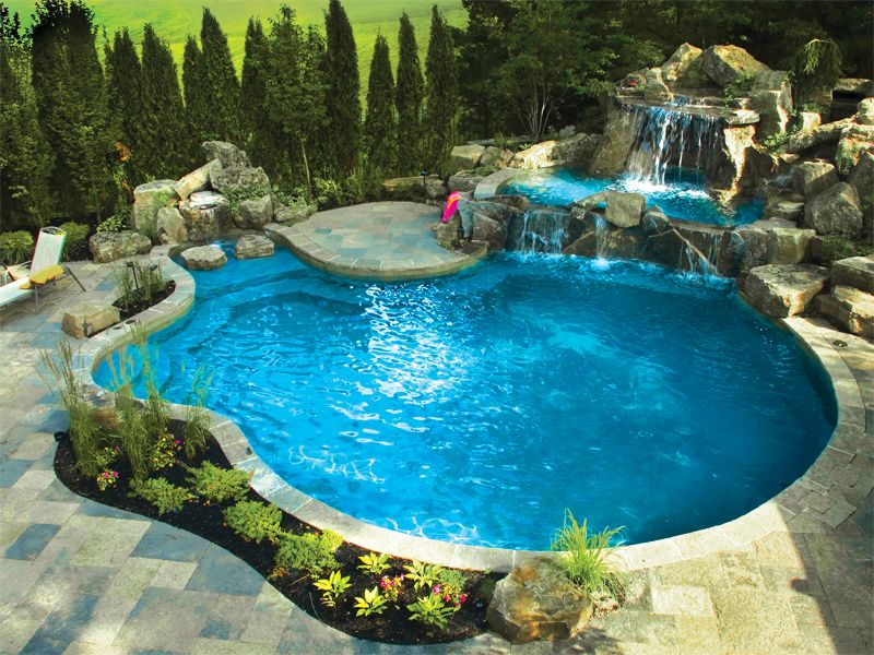 Amazing backyards pools backyard escapes with gib san for Garden pool landscaping