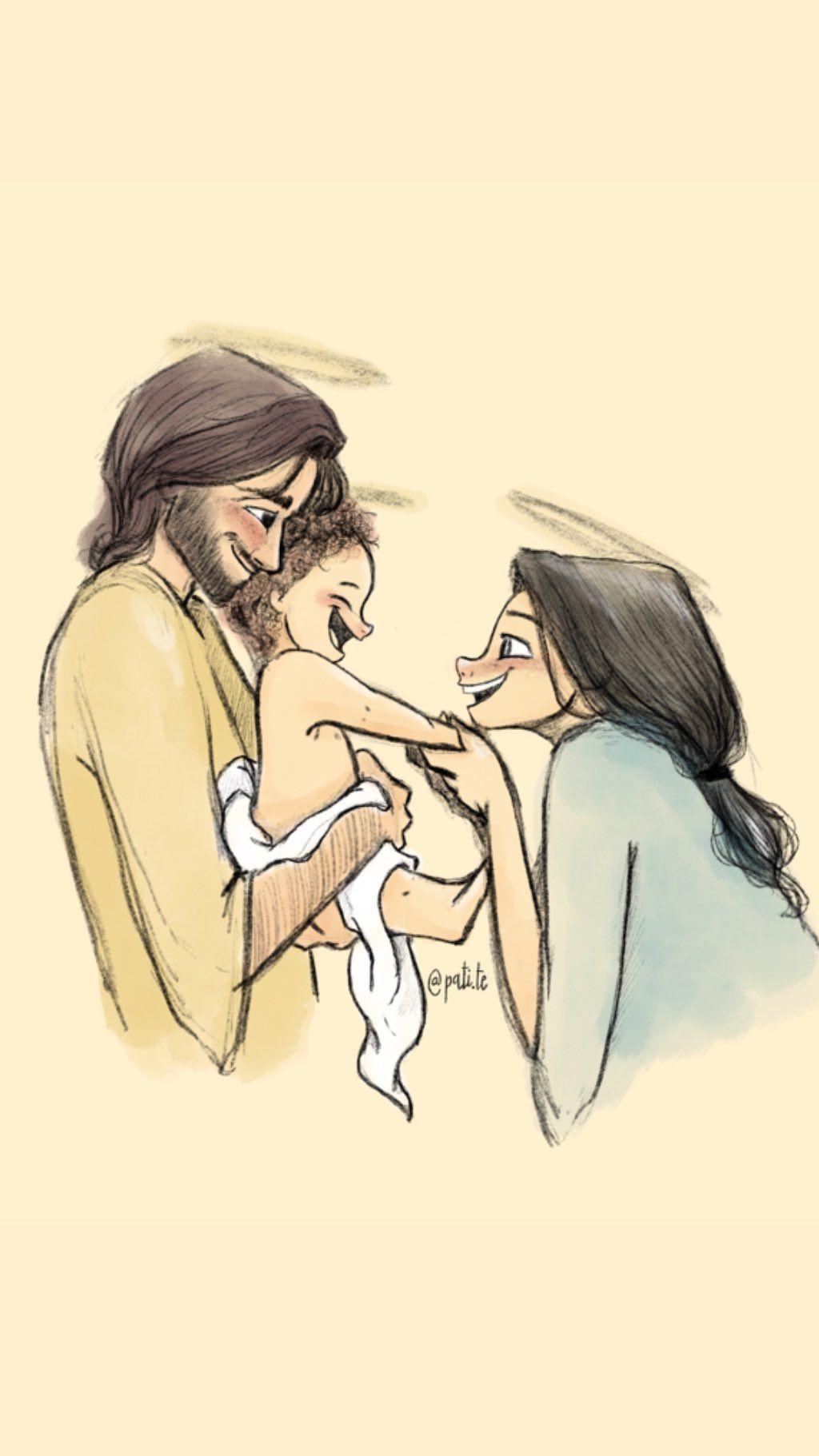 FONDOS - @pati.te in 8  Jesus cartoon, Pictures of jesus