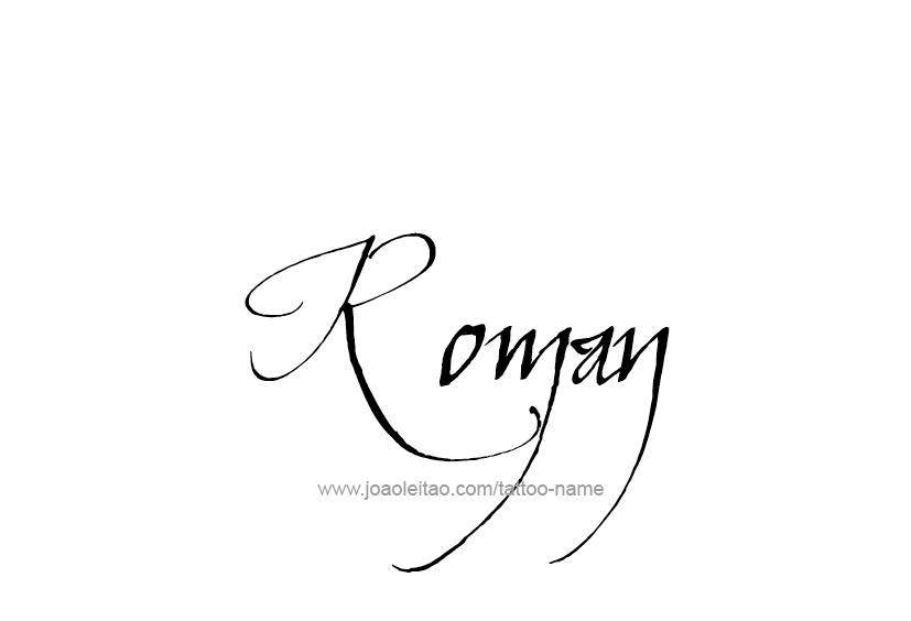 Roman Name Tattoo Designs | Roman names, Roman tattoo ...