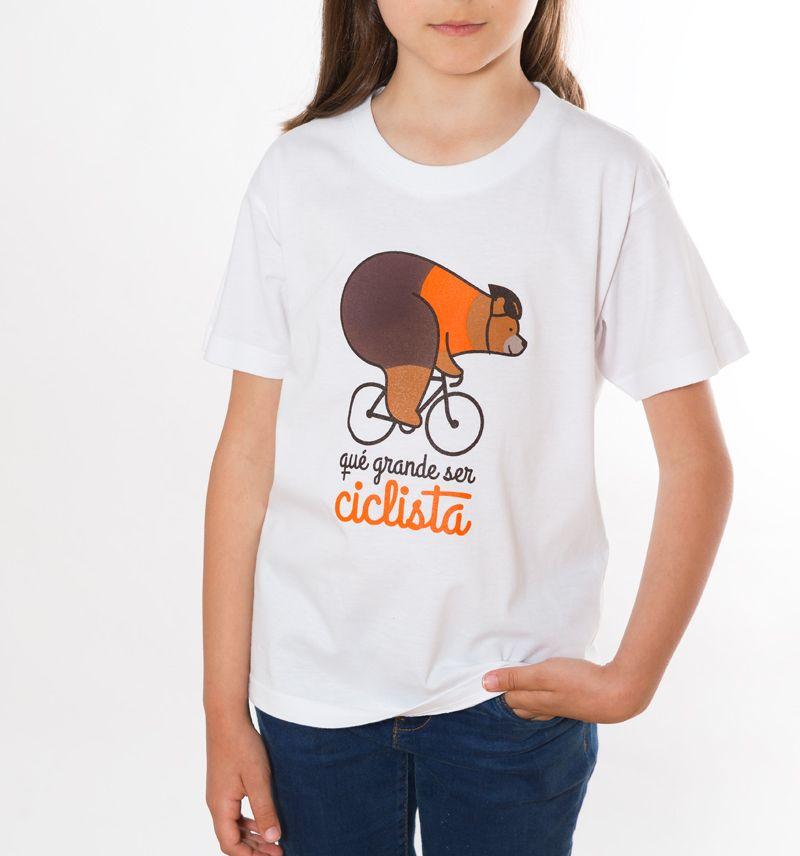 Camiseta de ciclismo niños-as colección qué grande ser ciclista Cycling t-shirt
