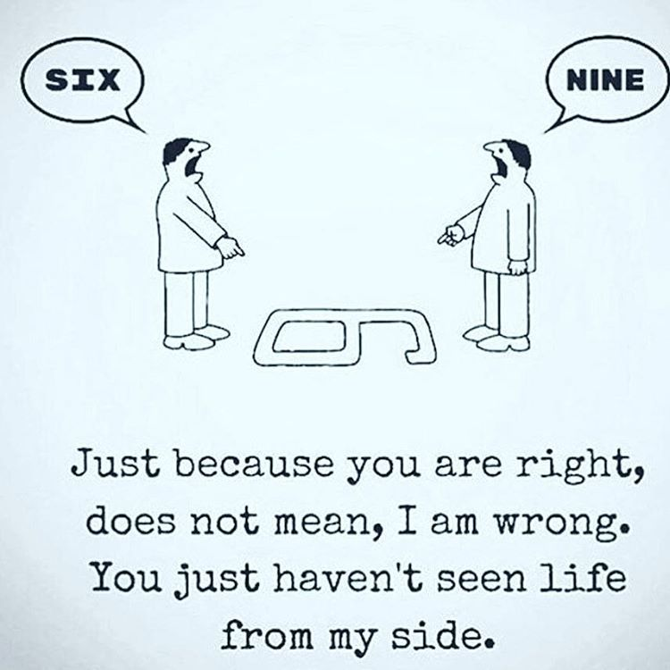 It often happens in an argument both sides are right but