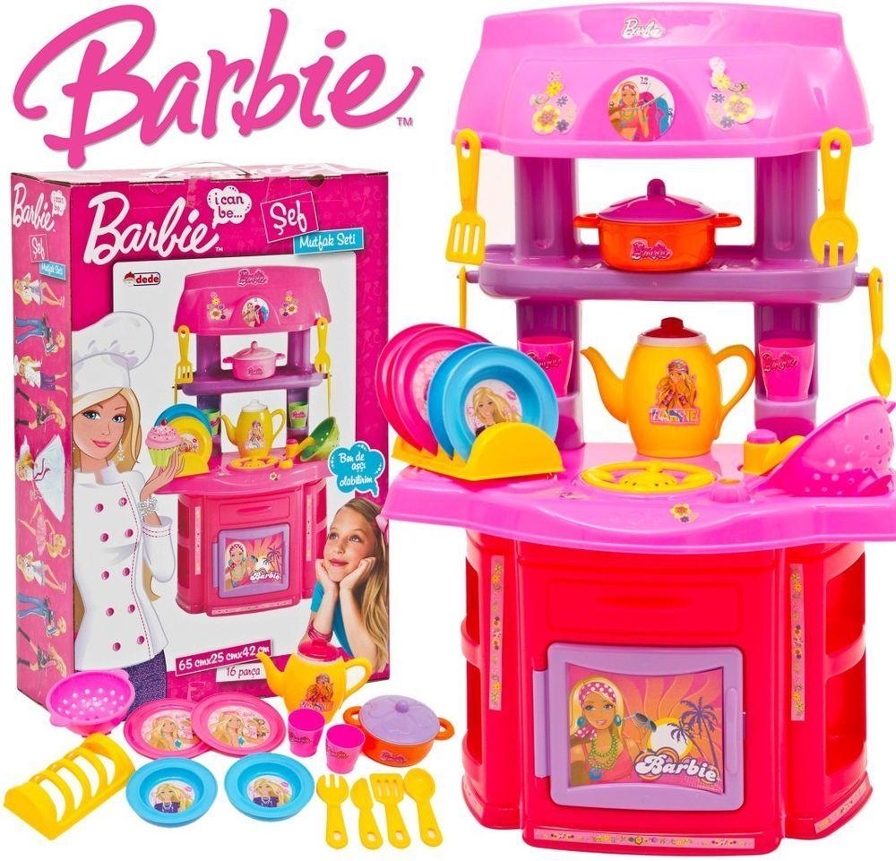 (30 OFF*) Barbie Girls Pink Toy Kitchen Children s Kids