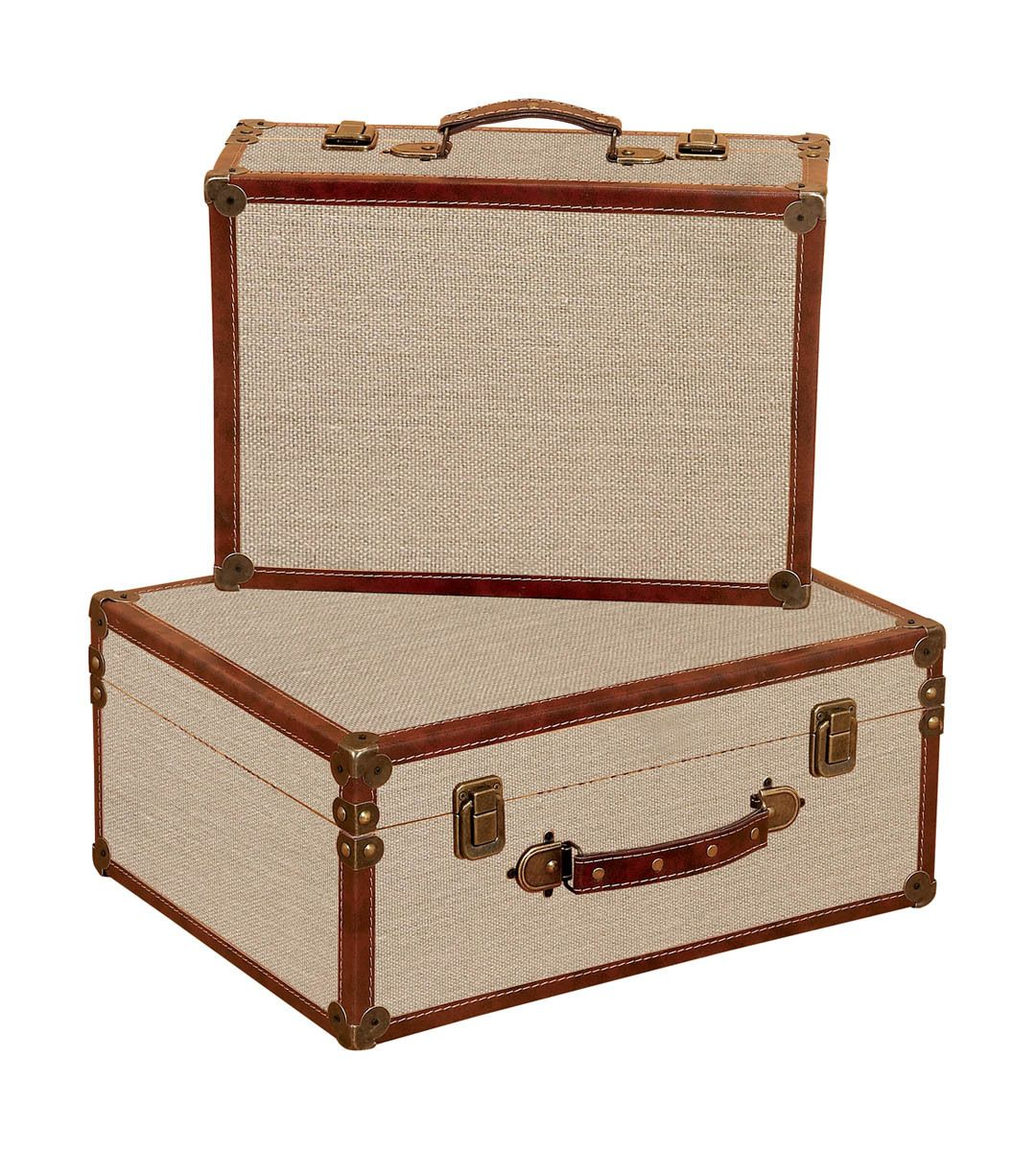 Decorative Luggage Box Burlap Decorative Suitcases  Diy Projects To Try  Pinterest