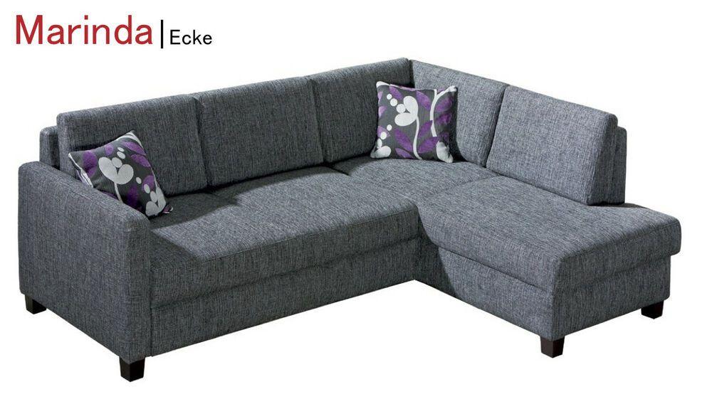 Ecksofa Eckcouch Couch Sofa Schlafsofa Funktionssofa Marinda Von