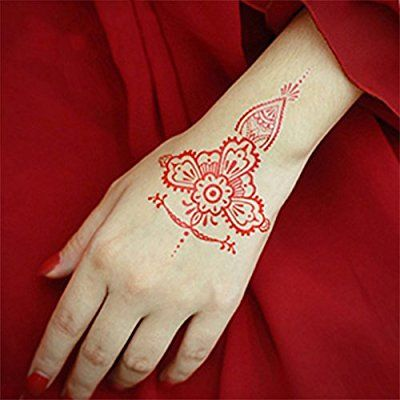 Amazon Com 6pcs India Henna Tattoo Kit Kicpot Temporary Tattoo