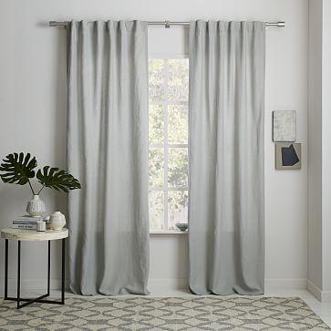 Belgian Flax Linen Curtain - Platinum