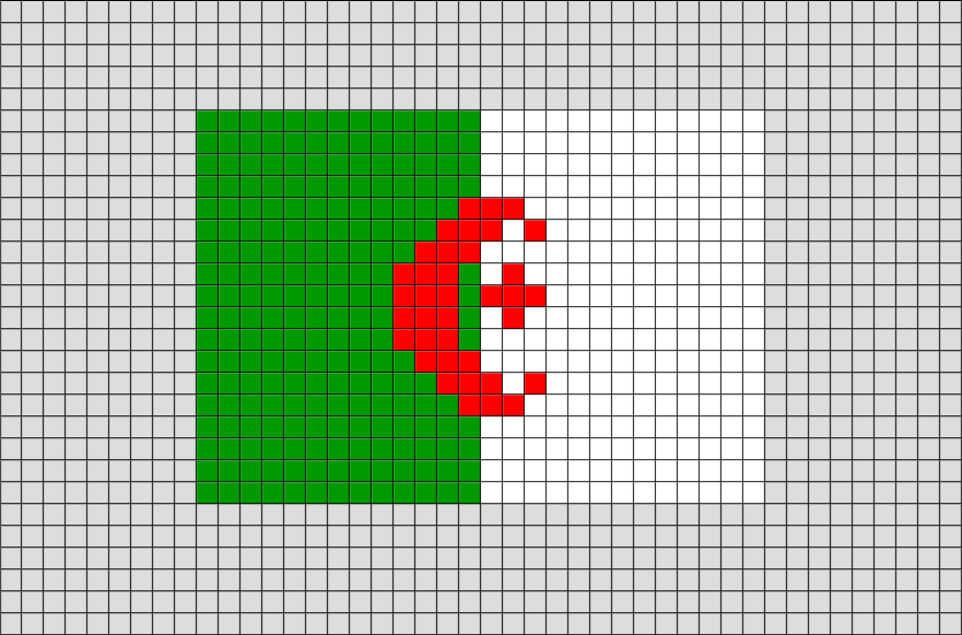 Flag Of Algeria Pixel Art Vyshivka