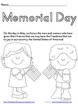 Memorial Day Coloring Page Freebie Memorial Day Coloring Pages
