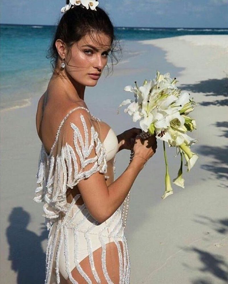 Isabeli Fontana Sheer Wedding Dress Photos | Isabeli fontana ...