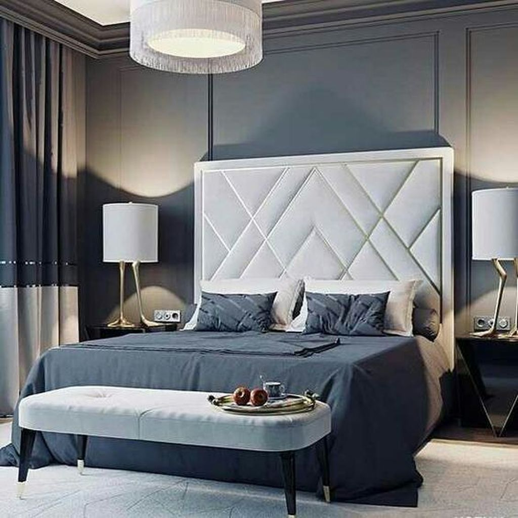46 Stunning Luxury Bedroom Design Ideas To Get Quality Sleep Luxurious Bedrooms Upholstered Walls Upholstered Wall Panels