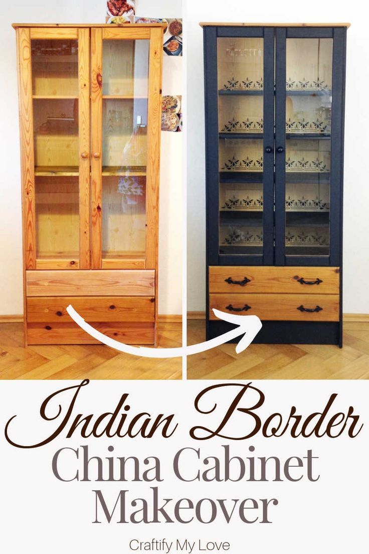 Photo of Easy China Cabinet Makeover with Stencil & Paint
