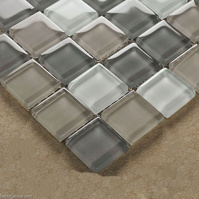 Crystal Floor Tile Hot Sale Glass Mosaic Kitchen Backsplash Tiles
