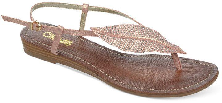 99e53a438e31ec  49 Carlos by Carlos Santana Tandy Sparkle Leaf Flat Thong Sandals ...