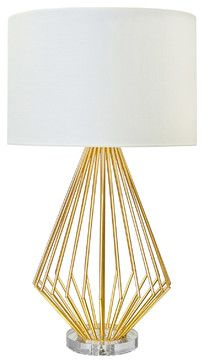 Worlds Away Truman Gold Table Lamp modern-table-lamps