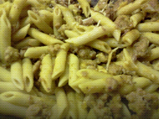 Squash and Turkey Sausage Penne. 6 pts for 1 cup.