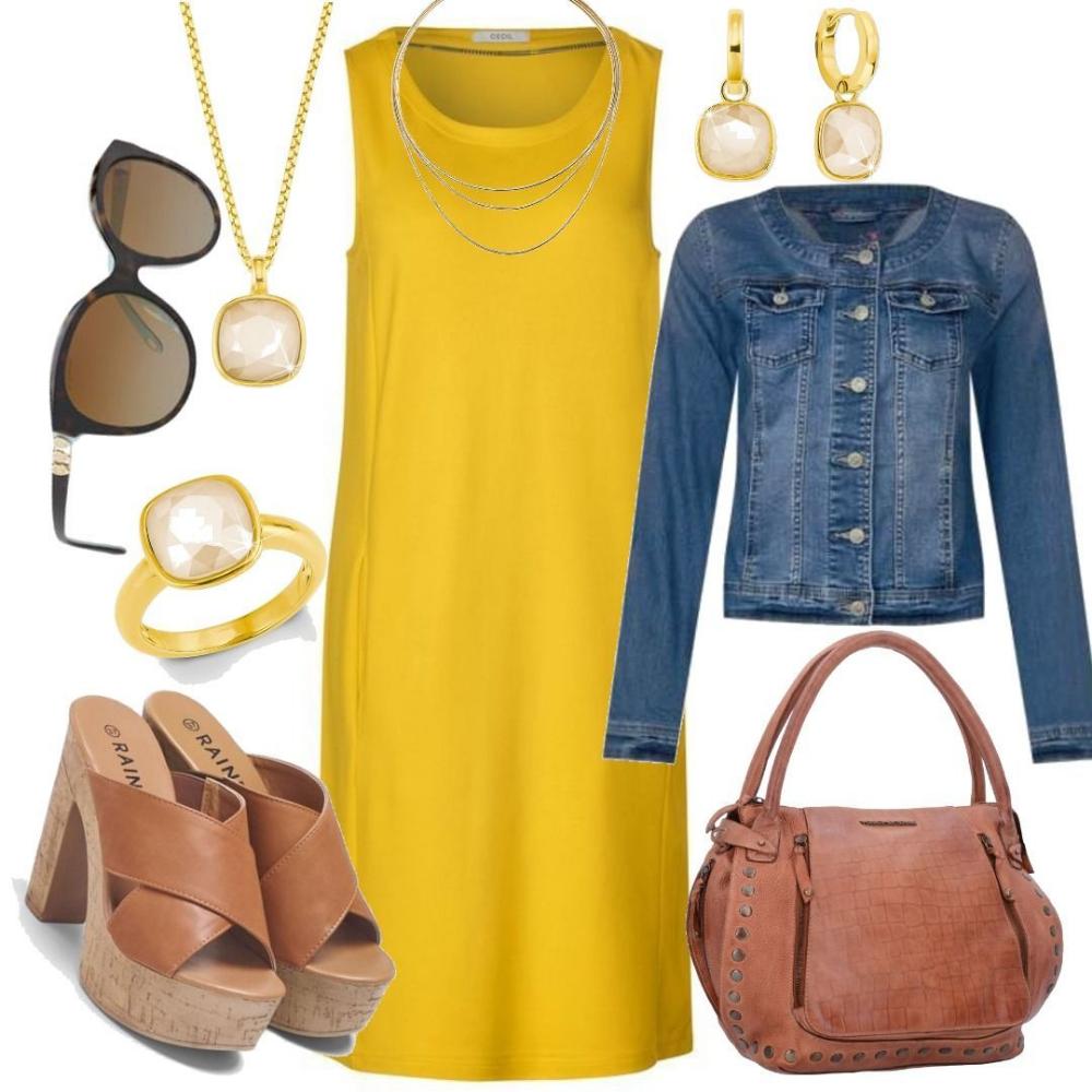 CECIL Ärmelloses Jersey Kleid   ceylon yellow für Damen zum ...