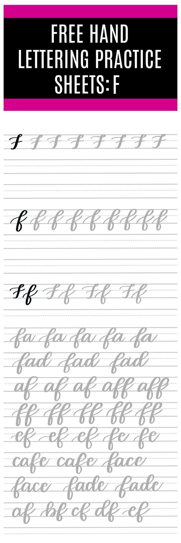 Free Brush Script F Practice Sheets Hand Lettering Practice Sheets Hand Lettering Worksheet Hand Lettering Practice [ 3000 x 1000 Pixel ]