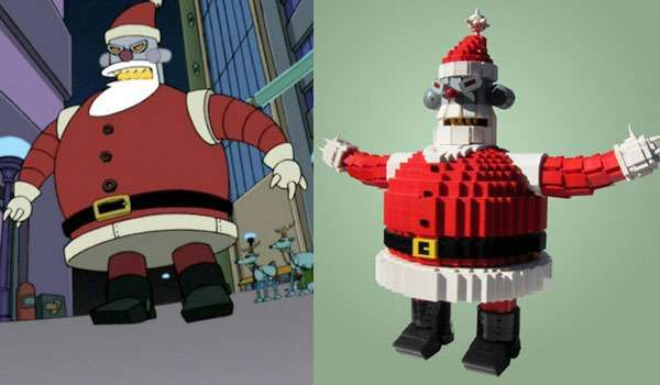 The LEGO Robot Santa Looks it's Straight Out of 'Futurama' #Pop culture trendhunter.com