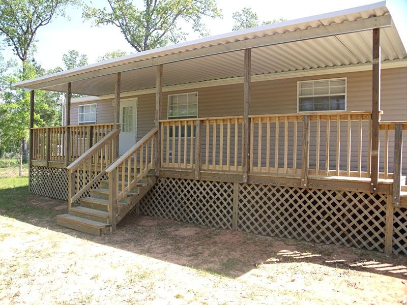 Great Mobile Home Steps And Decks Serve In Simple House Ornamentation