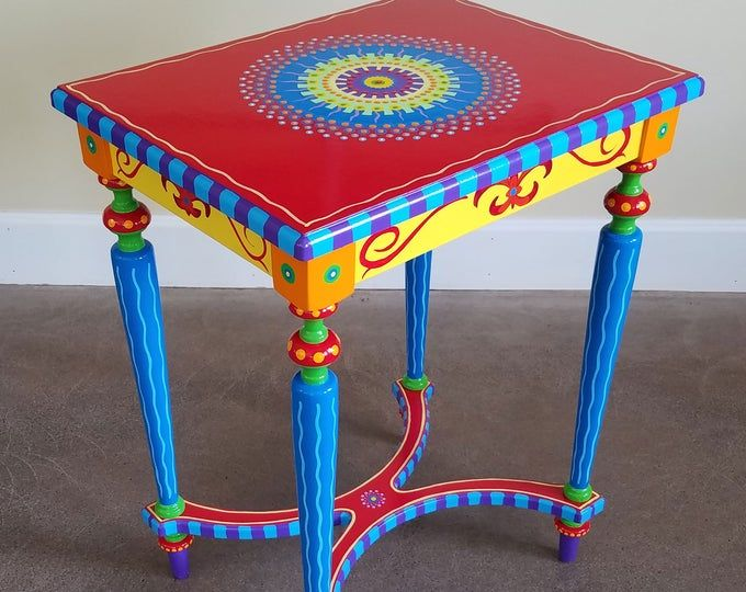 Photo of Made to Order. SOLD. This is an example. Hand painted furniture, boho style. Painted Furniture