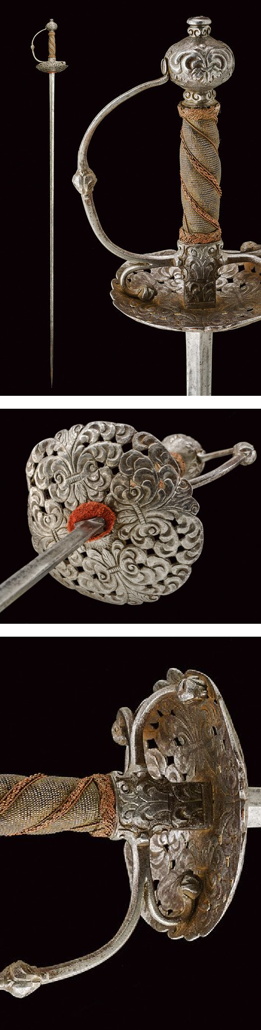 A fencing sword,dating: last quarter of the 17th Century provenance: Germany.