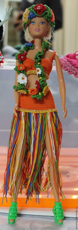 Вязаная одежда для куклы Барби Мисс Гавайи