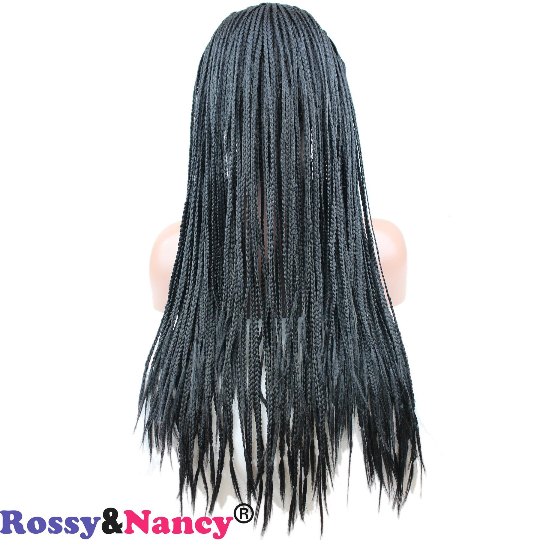 Rossyandnancy cheap synthetic braided hair free part natural black