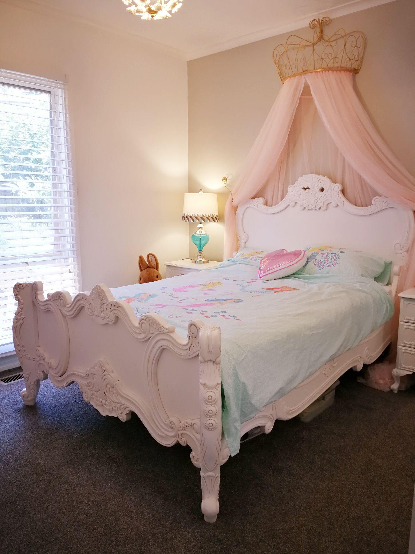 Kids Princess Canopy Bed | Girls bedroom, Bedroom diy
