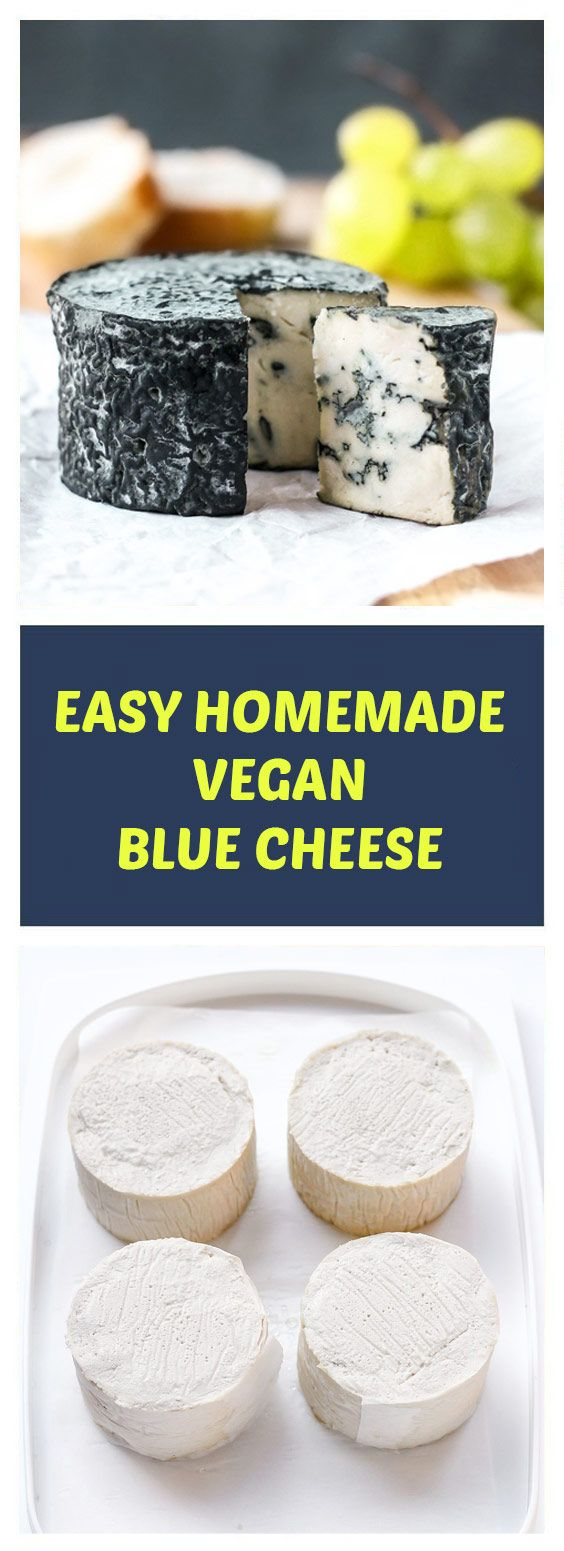 Easy Homemade Vegan Blue Cheese Vegan Blue Cheese That Tastes Like The Real One Made Using Traditi Vegan Blue Cheese Recipe Blue Cheese Recipes Vegan Dishes
