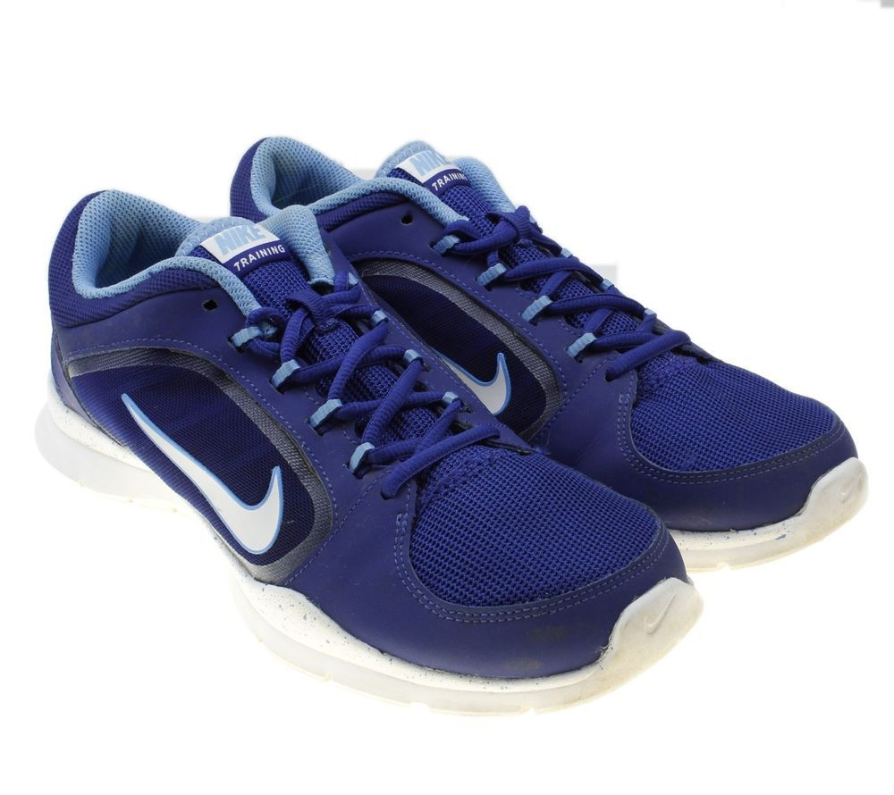 652ad7f10857 Nike Flex Trainer 4 Womens Blue White Athletic Running Shoes Sz 9  643083-403  Nike  RunningShoes