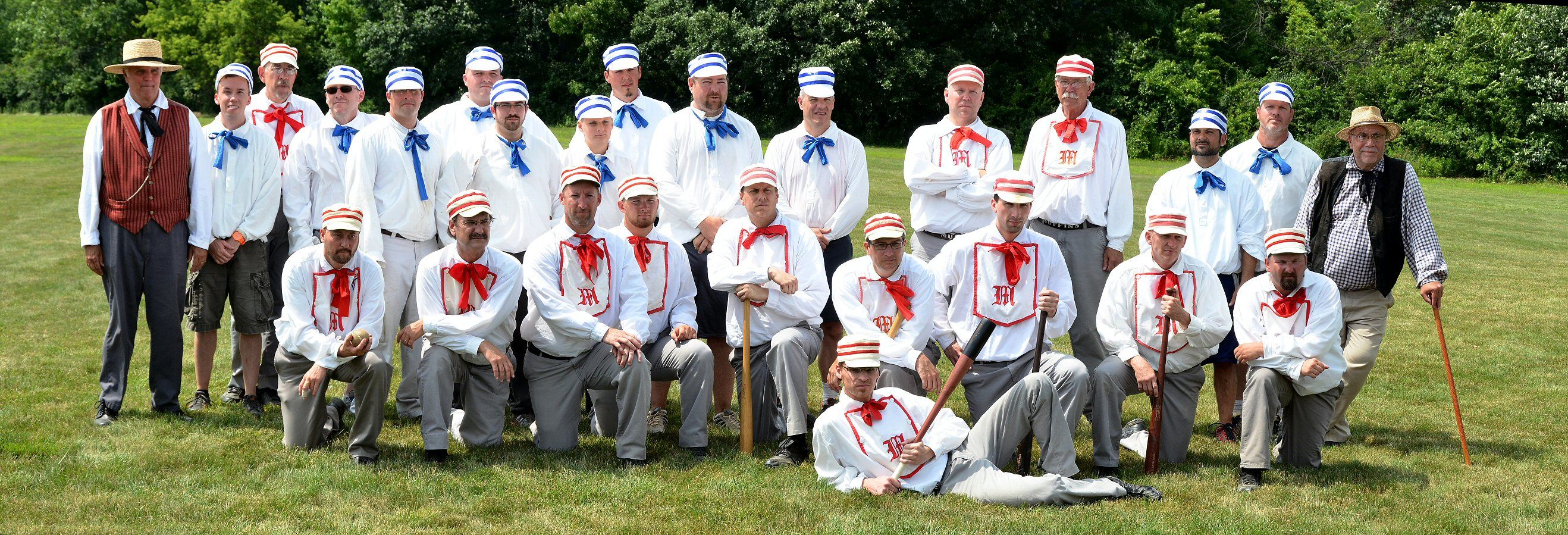 The Ohio Village Muffins Vintage Baseball Team Who Play On The Lawn Of Homecare Matters Each Spring In Cooperation With Vintage Baseball Baseball Team Vintage