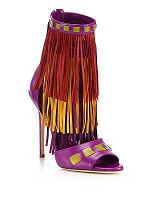 aafeedd506 Brian Atwood Abby Fringed Leather Sandals | Shoes | Brian atwood ...