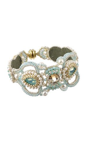 Bracelet with SWAROVSKI ELEMENTS and Seed Beads
