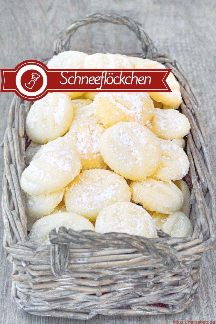 Schneeflöckchen Rezept - die vielleicht zartesten Kekse der Welt