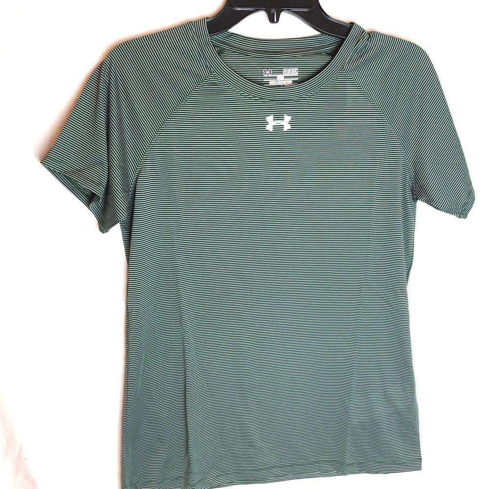 Sesión plenaria Taxi Magnético  Under Armour UA Tech Stripe Locker Tee Shirt Size Small Womens Green NEW # Underarmour #AthleticTops | Womens shirts, Under armour outfits, Under  armour