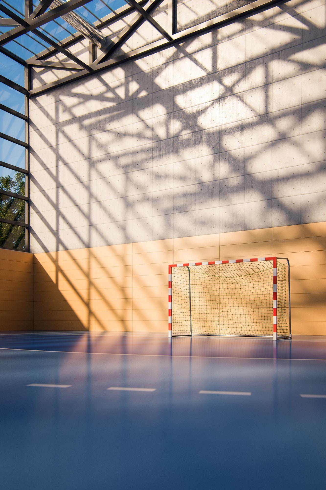 Handball Court On Behance In 2020 Handball Volleyball Workouts Handball Players