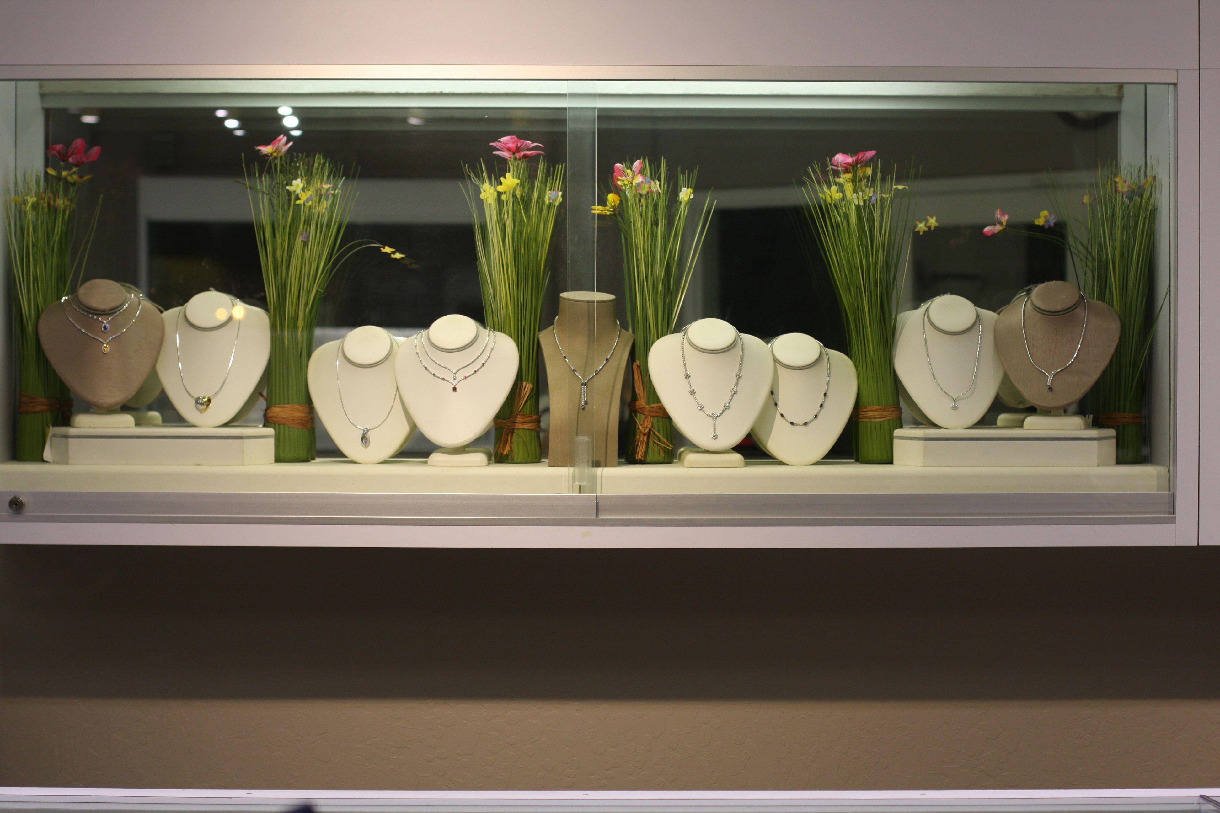 Window display ideas for jewelry  fine jewelry window display  gardening  pinterest  display