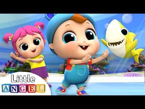 Baby Shark Dance at the Aquarium   Nursery Rhymes by ...